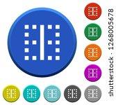 vertical border round color... | Shutterstock .eps vector #1268005678