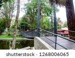 suspension bridge on the public ... | Shutterstock . vector #1268006065