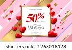 valentines day sale background...   Shutterstock .eps vector #1268018128