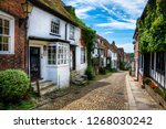 charming houses in beautiful ...   Shutterstock . vector #1268030242