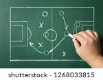 woman drawing football game... | Shutterstock . vector #1268033815
