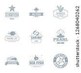 starfish logo set. simple set... | Shutterstock . vector #1268040262