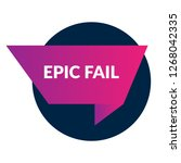 epic fail sign  emblem  label ...