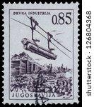 yugoslavia   circa 1958  stamp... | Shutterstock . vector #126804368