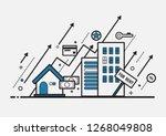 rising price of real estate... | Shutterstock .eps vector #1268049808