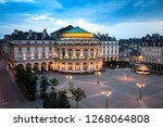 beautiful view of the square in ... | Shutterstock . vector #1268064808