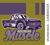 retro party poster with car.... | Shutterstock .eps vector #1268065225