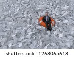 businessman are floating on the ...   Shutterstock . vector #1268065618