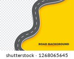 winding road background.curved... | Shutterstock .eps vector #1268065645