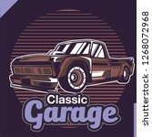 retro style muscle car   vector  | Shutterstock .eps vector #1268072968