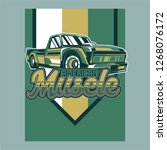 vintage cars old worn sign.... | Shutterstock .eps vector #1268076172