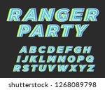ranger party typography | Shutterstock .eps vector #1268089798