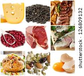 food sources of protein ... | Shutterstock . vector #126809132