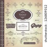 vector set  calligraphic design ... | Shutterstock .eps vector #126809312