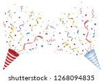 vector confetti. festive... | Shutterstock .eps vector #1268094835