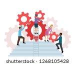 support management conceptual...   Shutterstock .eps vector #1268105428
