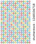 food icon vector set  | Shutterstock .eps vector #1268106718