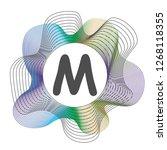 monogram color frame. logo... | Shutterstock .eps vector #1268118355