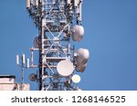 telecommunication network... | Shutterstock . vector #1268146525
