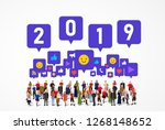 large group of people with...   Shutterstock .eps vector #1268148652