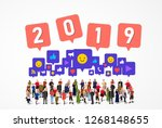 large group of people with...   Shutterstock .eps vector #1268148655
