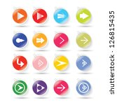 arrow sign icon set with clip....