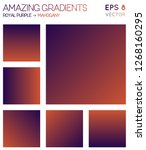 colorful gradients in royal... | Shutterstock .eps vector #1268160295