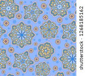 seamless oriental ornamental... | Shutterstock .eps vector #1268185162