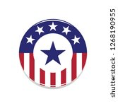 heroic usa flag badge with blue ... | Shutterstock .eps vector #1268190955