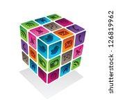 social media cube | Shutterstock .eps vector #126819962