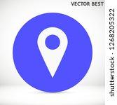 gps vector icon 10 eps