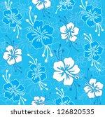 hawaiian pattern | Shutterstock .eps vector #126820535