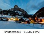 Ski Resort Of Corvara At Night...