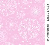 seamless pattern with floral... | Shutterstock .eps vector #1268217115