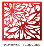 laser cutting square panel.... | Shutterstock .eps vector #1268226802