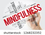 mindfulness word cloud with... | Shutterstock . vector #1268232352