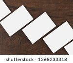 mock up of business cards on... | Shutterstock . vector #1268233318