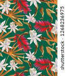 colourful seamless pattern with ... | Shutterstock . vector #1268236975