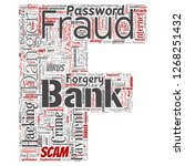 conceptual bank fraud payment... | Shutterstock . vector #1268251432
