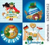 oktoberfest beer party german...   Shutterstock . vector #1268251612