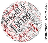 conceptual healthy living... | Shutterstock . vector #1268252068