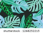 colourful seamless pattern with ... | Shutterstock . vector #1268252215