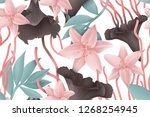 colourful seamless pattern with ... | Shutterstock . vector #1268254945