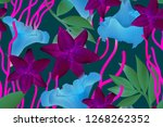 colourful seamless pattern with ... | Shutterstock . vector #1268262352