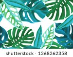 colourful seamless pattern with ... | Shutterstock . vector #1268262358