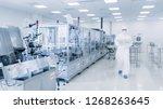 shot of sterile pharmaceutical...   Shutterstock . vector #1268263645
