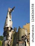 Aircraft wreckage in Hanoi city, Vietnam.