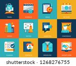 flat conceptual business and... | Shutterstock .eps vector #1268276755