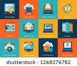 flat conceptual cloud... | Shutterstock .eps vector #1268276782