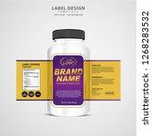 bottle label  package template... | Shutterstock .eps vector #1268283532